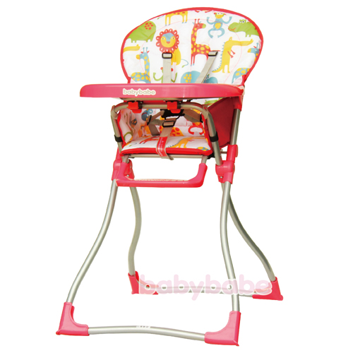 586兒童高腳餐椅-紅