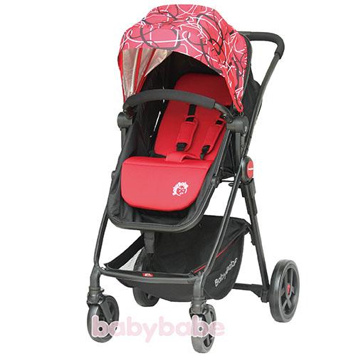 888輕量歐式高景觀嬰幼兒手推車-紅