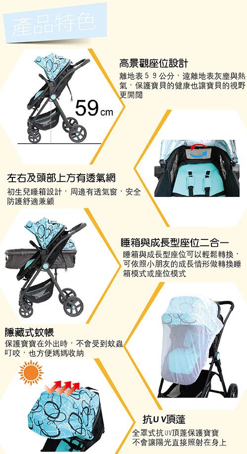 888_歐式高景觀嬰兒手推車