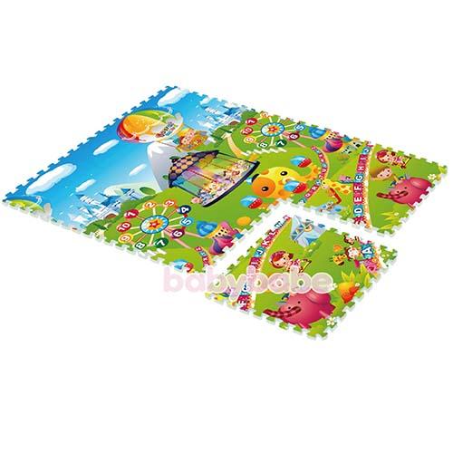 93816環保EPE安全拼接地墊-雙面組合C兒童樂園-大富翁