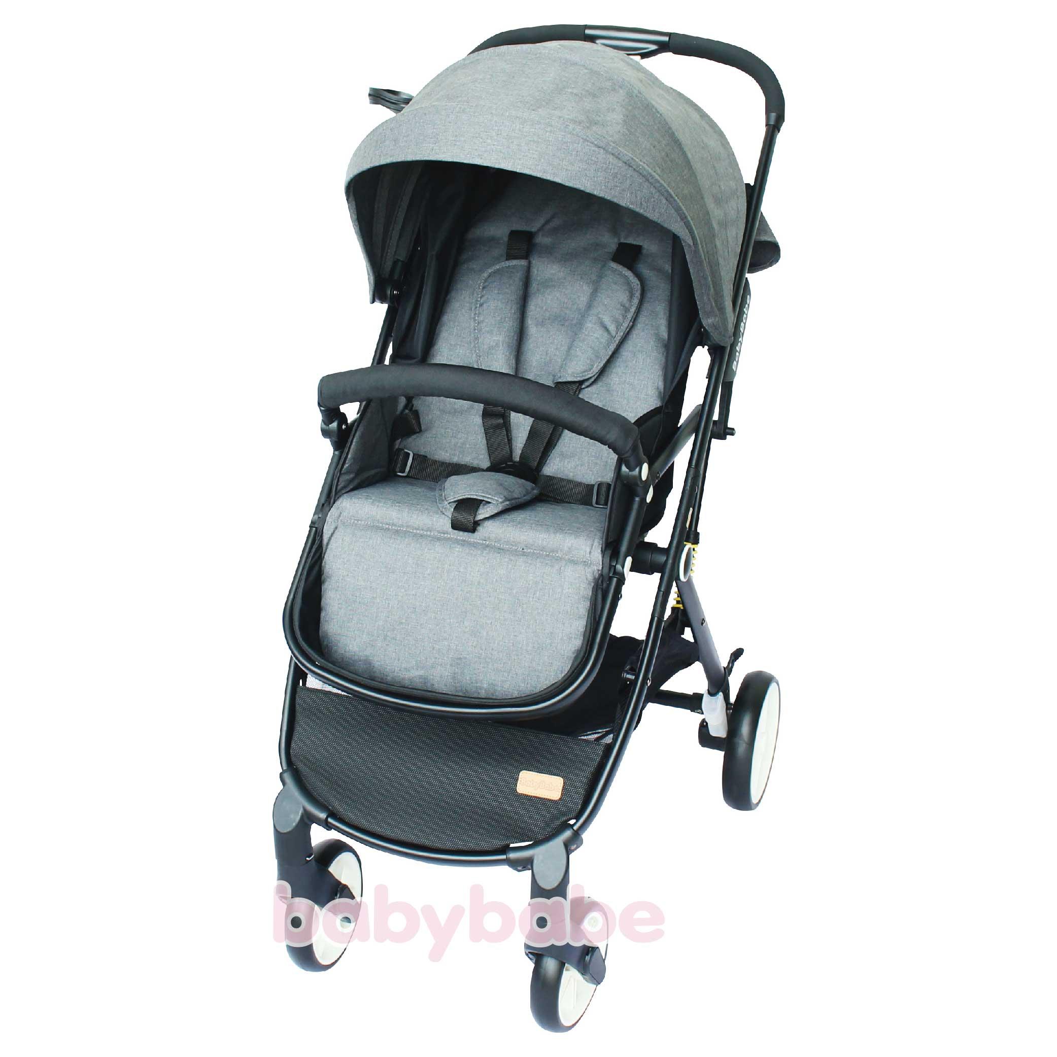 S366嬰幼兒時尚旅行推車-亞麻灰-01