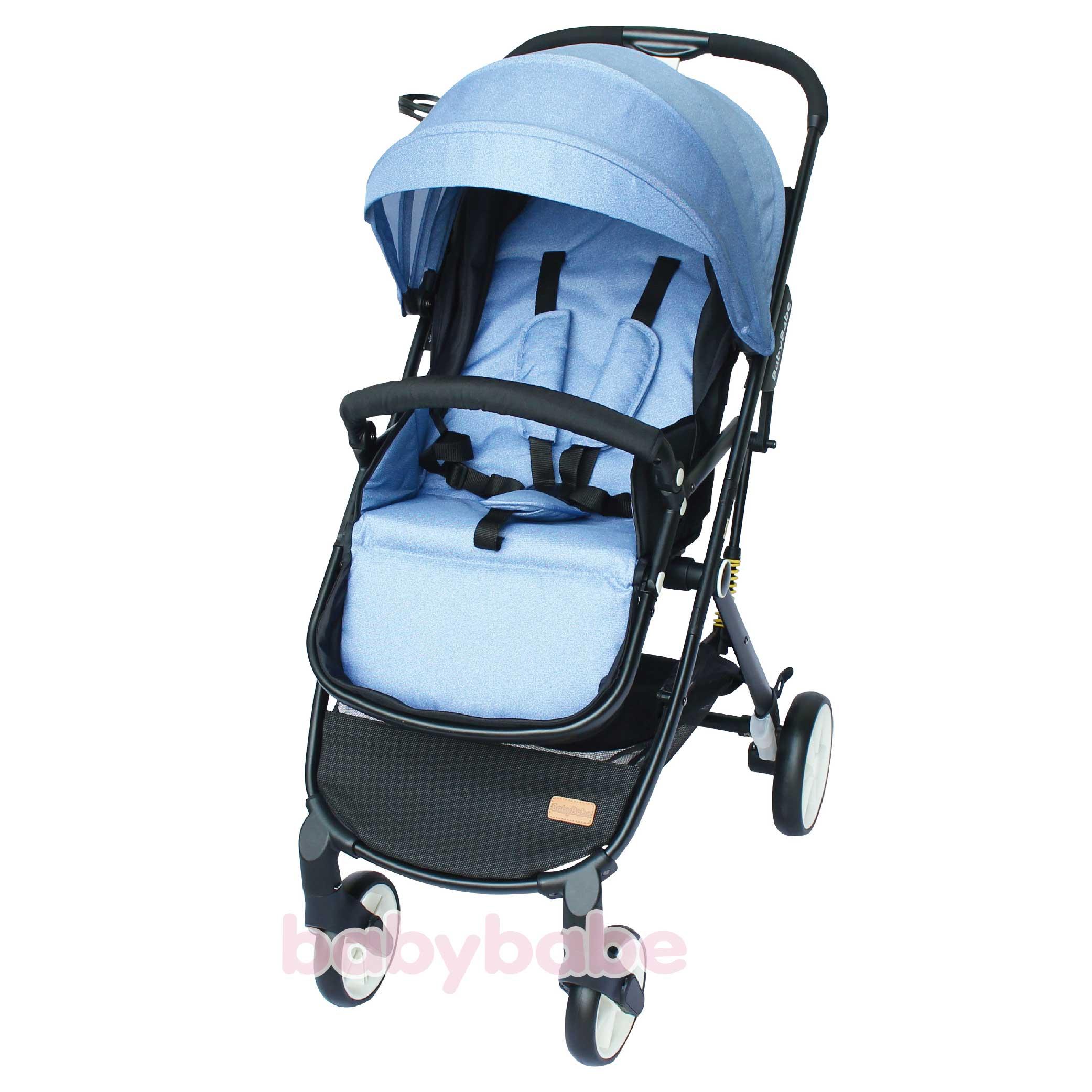 S366嬰幼兒時尚旅行推車-牛仔藍-01